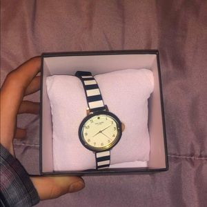 Kate spade black and white watch
